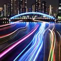 写真: 永代橋に向って2