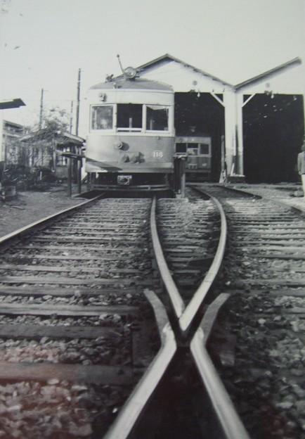 写真: 京福電鉄嵐山線 西院車庫