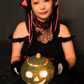 写真: Black cat and pumpkin