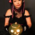 写真: Black cat and pumpkin