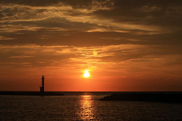 写真: ゆく秋の陽