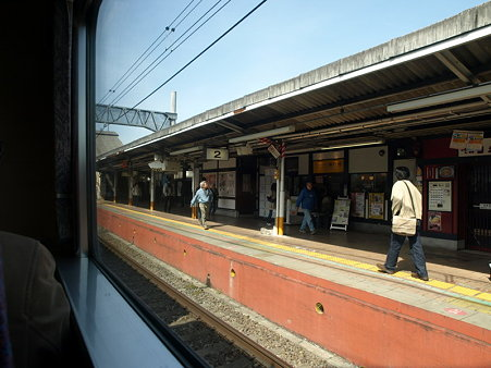 高尾駅2(ホリデー快速河口湖1号の車窓)