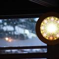 写真: 古民家カフェの時計