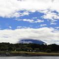 写真: 富士山隠れてる