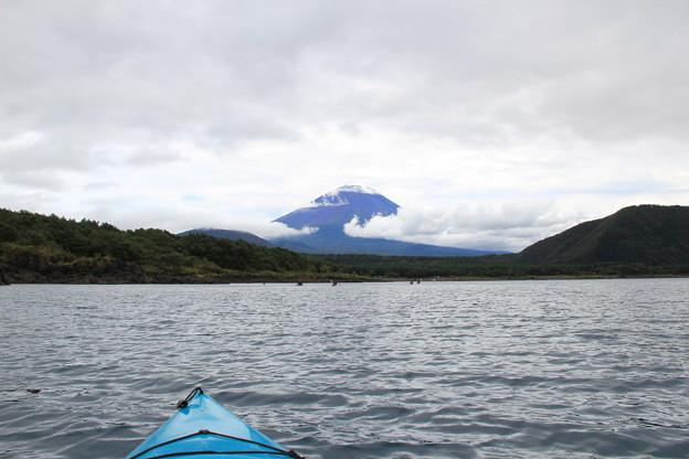 富士山に向かってパドリング