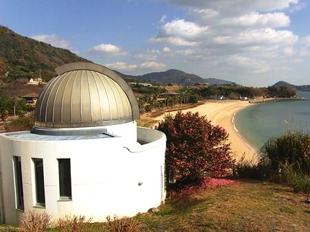 2010年正月帰省 県民の浜 天文台と山茶花の丘