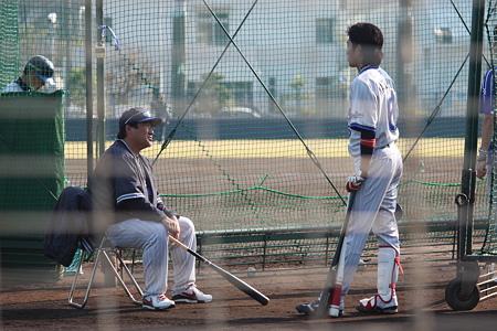 杉村繁コーチと松本啓二郎