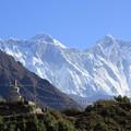 Photos: 2354 エベレストとローツェを望む@ネパール