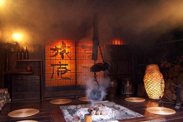 写真: 黒川温泉にて(1)