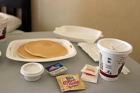 朝食ビッフェ?
