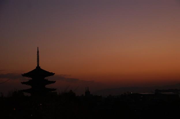 京都的なゆうやけ