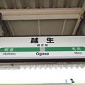 Photos: 越生駅 駅名標