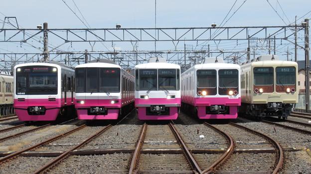 新京成N848F・8918F・8807F・8518F・8512F 5並び