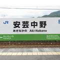 Photos: 安芸中野駅 駅名標【下り】
