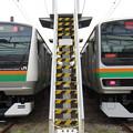写真: E233系3000番台・E231系1000番台 2並び