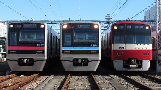 京成3027F・千葉NT9201F・京急1025F 3並び