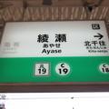 #C19 綾瀬駅 駅名標