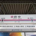 Photos: #KO24 府中駅 駅名標【上り】