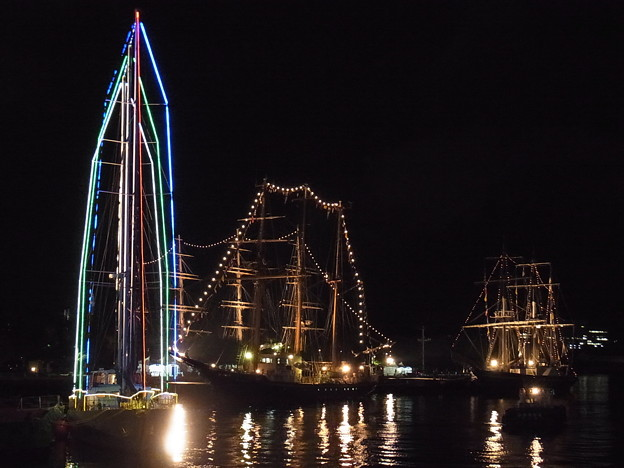 20170420 長崎帆船まつり 夜の01