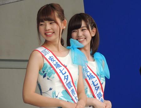 安城七夕親善大使のお姉さん。