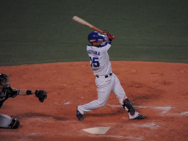 写真: 杉山翔大選手。