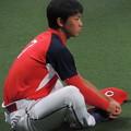 写真: 堂林翔太選手。
