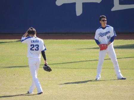 松井佑介選手と遠藤一星選手。