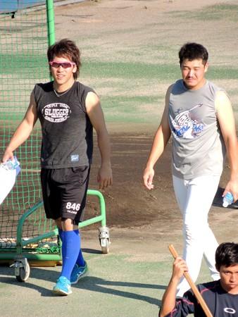 亀澤選手と赤田選手。