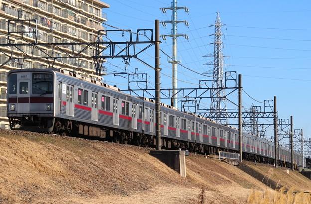 D1307T 9107F(2015/1/9 柳瀬川-みずほ台間にて)