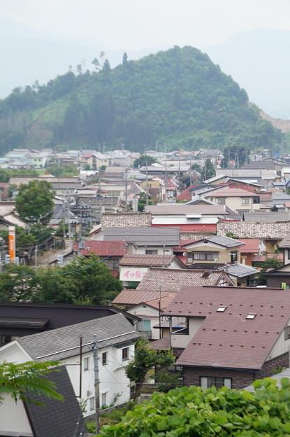 会津本郷の家並み