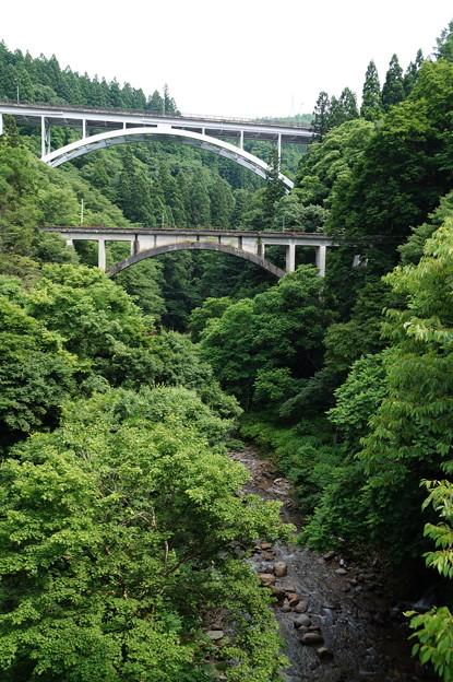 峡谷とアーチ橋
