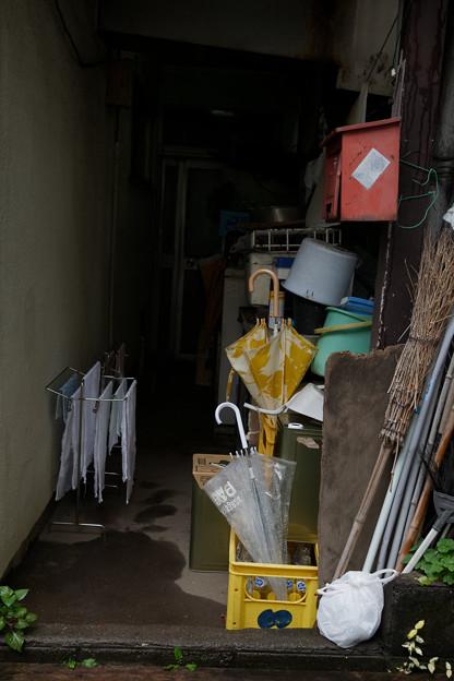 傘とタオル