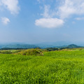 写真: 亀石山から上津江方面