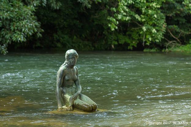 宮島峡ヴィーナス像巡り3 人魚の像