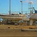 1.修復中のヨット