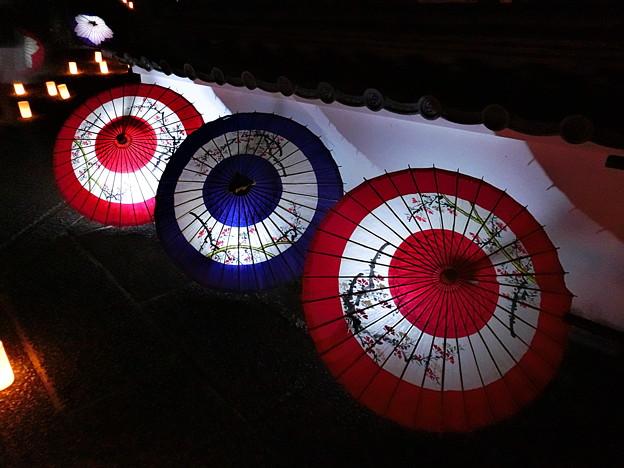 写真: 岡寺の傘灯り