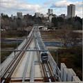 広瀬川を渡る地下鉄