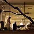 写真: 光の夜の結婚式