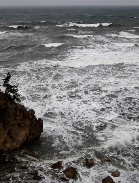 日本海、八乙女温泉からの風景