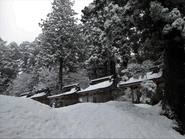 雪に埋もれる出羽神社