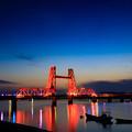 写真: 昇開橋 夕景 2