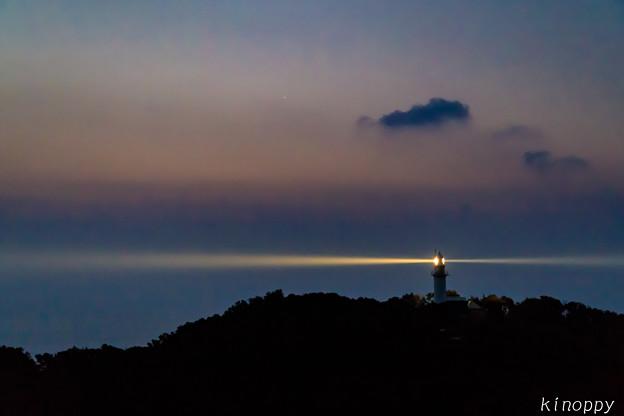 鶴御埼灯台 夜明け前