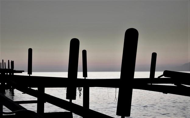 浜辺のオブジェ