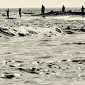 浜辺の6人