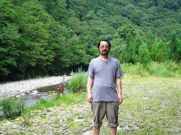 写真: 広島県吉和 中津谷川に沿った国道488号線 H18年8月