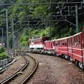 写真: 長島ダム駅到着間近