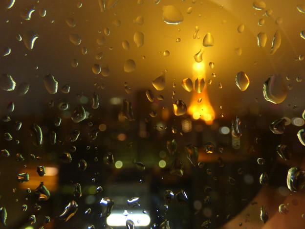 写真: 雨粒模様 2017.10.22早朝