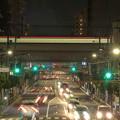 写真: 現在の日常の京成曳舟駅前の夜景