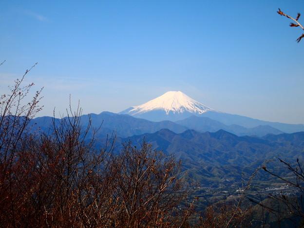 写真: 青空の富士