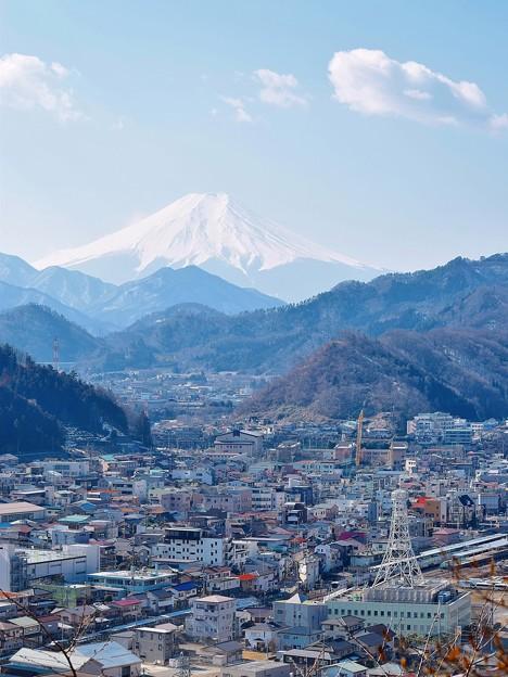 富士と大月駅界隈